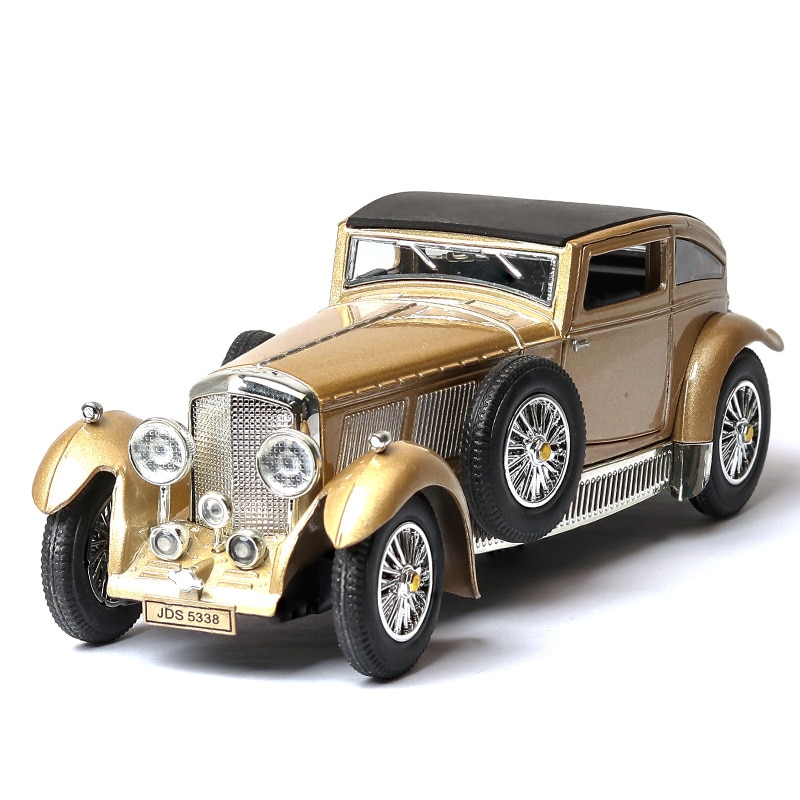 1:32 classic car model ben tley 8L antique car model simulation sound and light pull back car ornaments retro model toy car gift 4pcs magic hair elf trolls ugly baby troll bobby princess base model toy car decoration ornaments