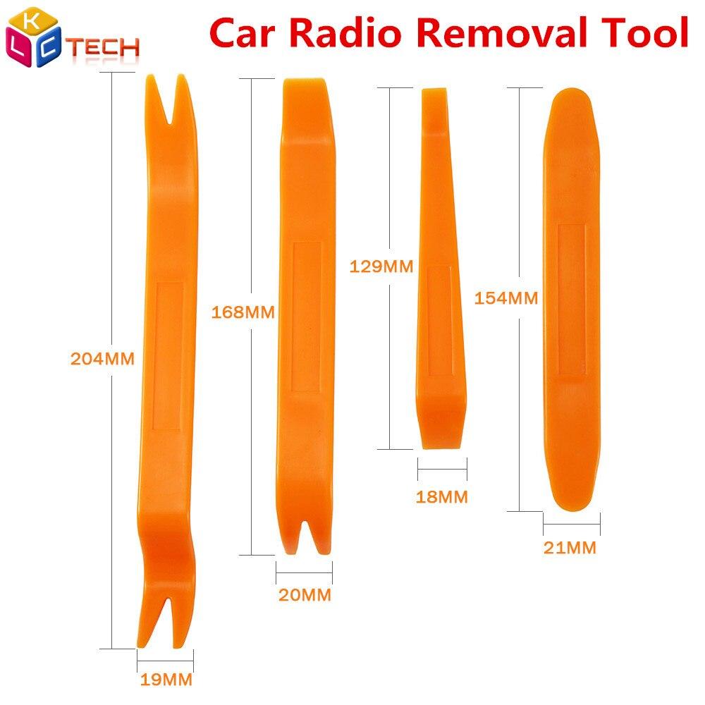 Herramienta de extracción de Radio de coche-estilo de 4 Uds palanca instalador corte de extracción de Audio de coche Panel de la puerta de la cabina de herramientas para accesorios de coche