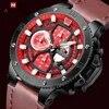 NAVIFORCE relojes de marca superior para hombre cronógrafo deportivo resistente al agua reloj para hombre relojes militares de lujo para hombre reloj de cuarzo de cuero