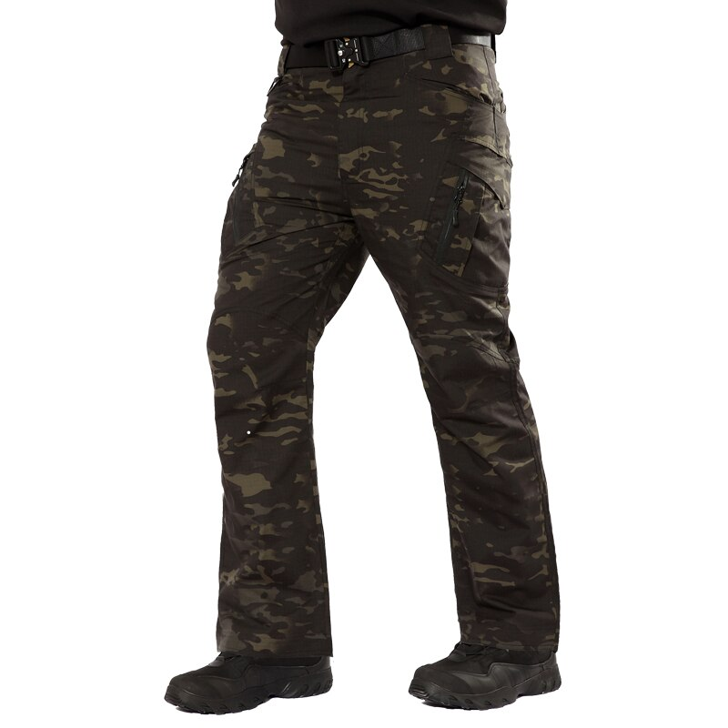 Pantalones tácticos de camuflaje para hombre IX9 Rip-Stop, pantalones militares impermeables, pantalones militares de combate SWAT, pantalones Cargo con bolsillos, pantalones de camuflaje 4XL 5XL