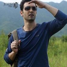 JOZSI marque out porte printemps t-shirts à manches longues hommes vêtements 100% coton séchage rapide respirant o-cou coolmax t-shirts