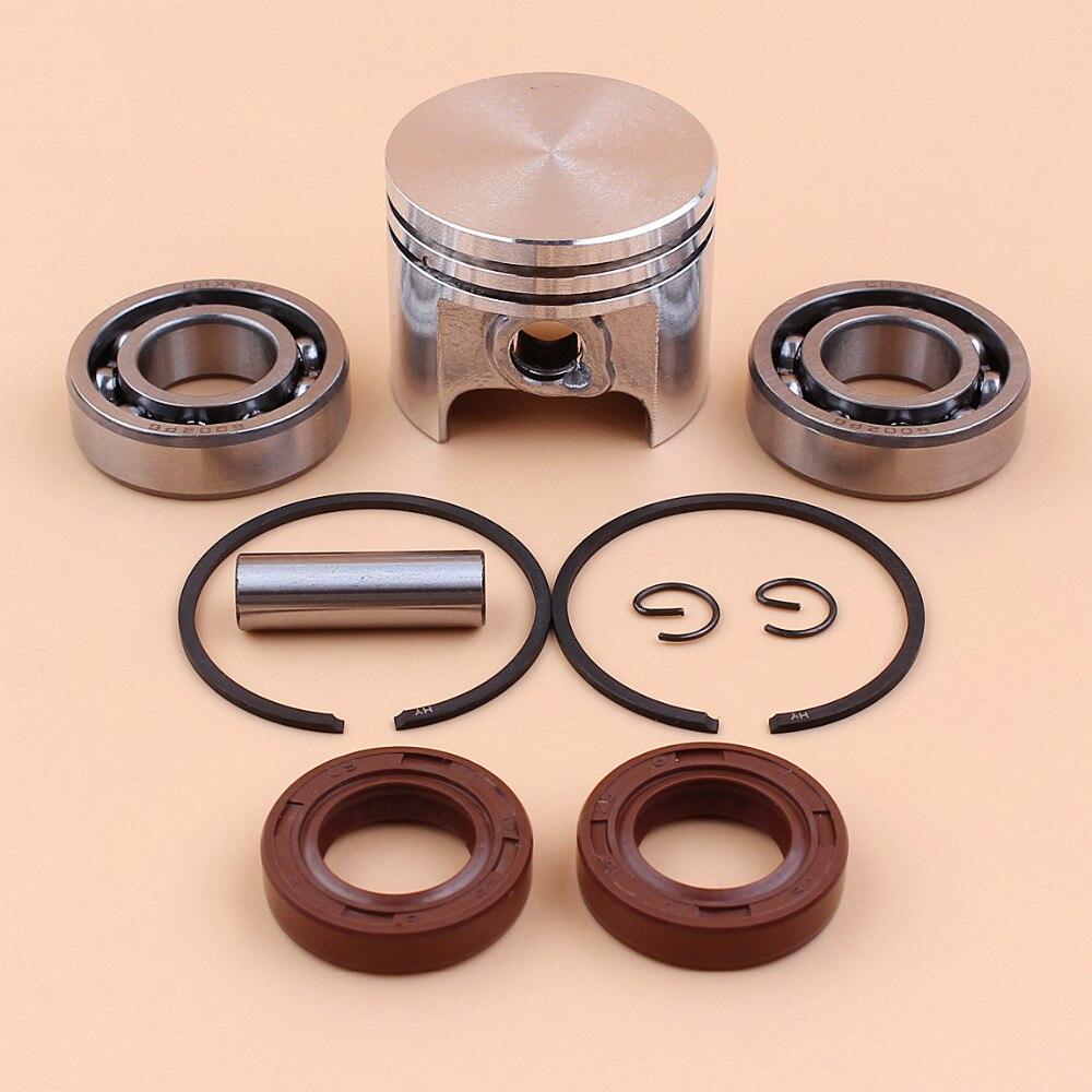 37mm Kolben Ping Ringe Kit w/Kurbel Lager Öl Dichtung Kit Für STIIHL 017 MS170 MS 170 Kettensäge teile-8mm pin