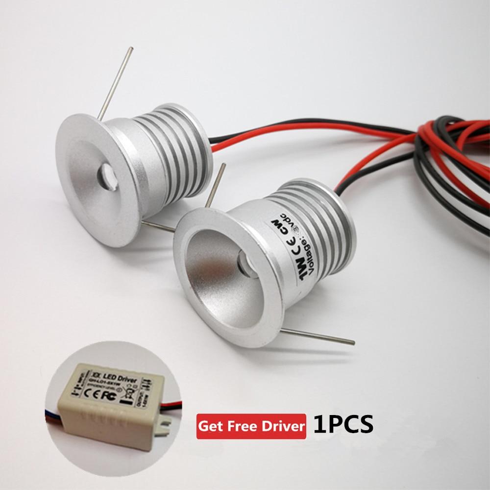 Foco Led de 1W DC3V, luz descendente decorativa de 25mm, luz indicadora...