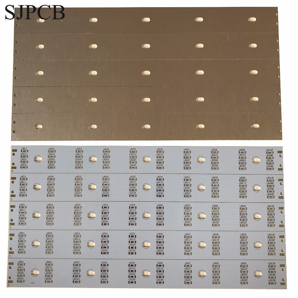 Placa de circuito de tira de Metal SJPCB blanco de aluminio PCB de alta potencia a precio competitivo