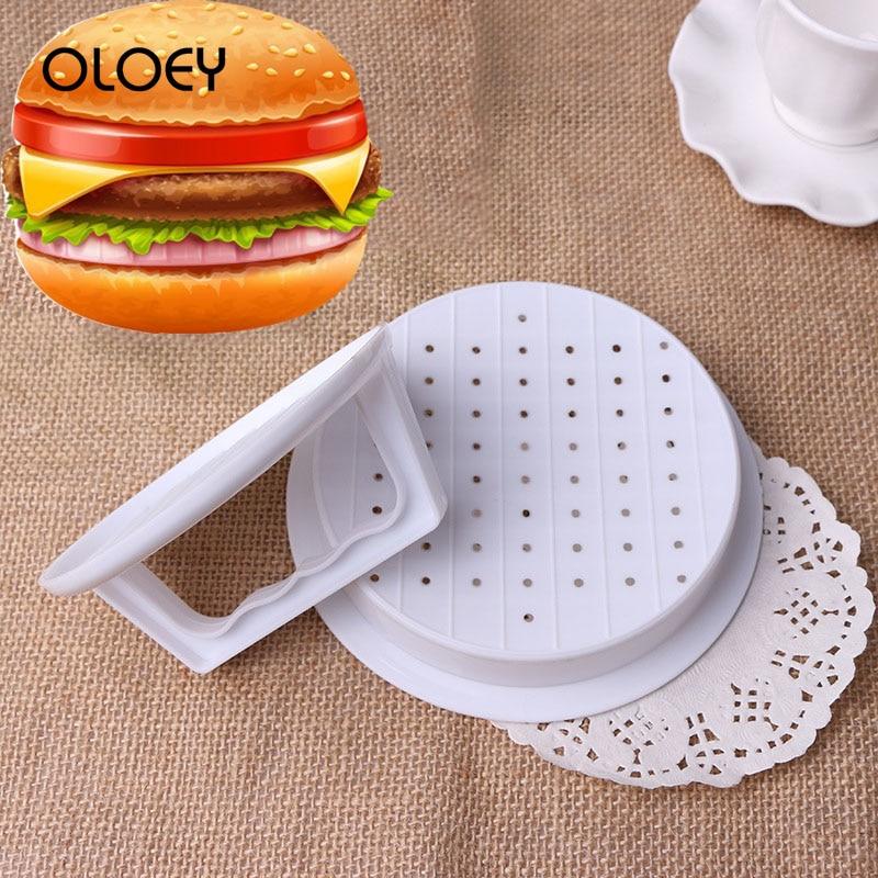 OLOEY Multi-Function Burger Meat Press Maker Round Hamburger Beef Grill Burgers Patties Mold Creative Kitchen Plastic Food Tools