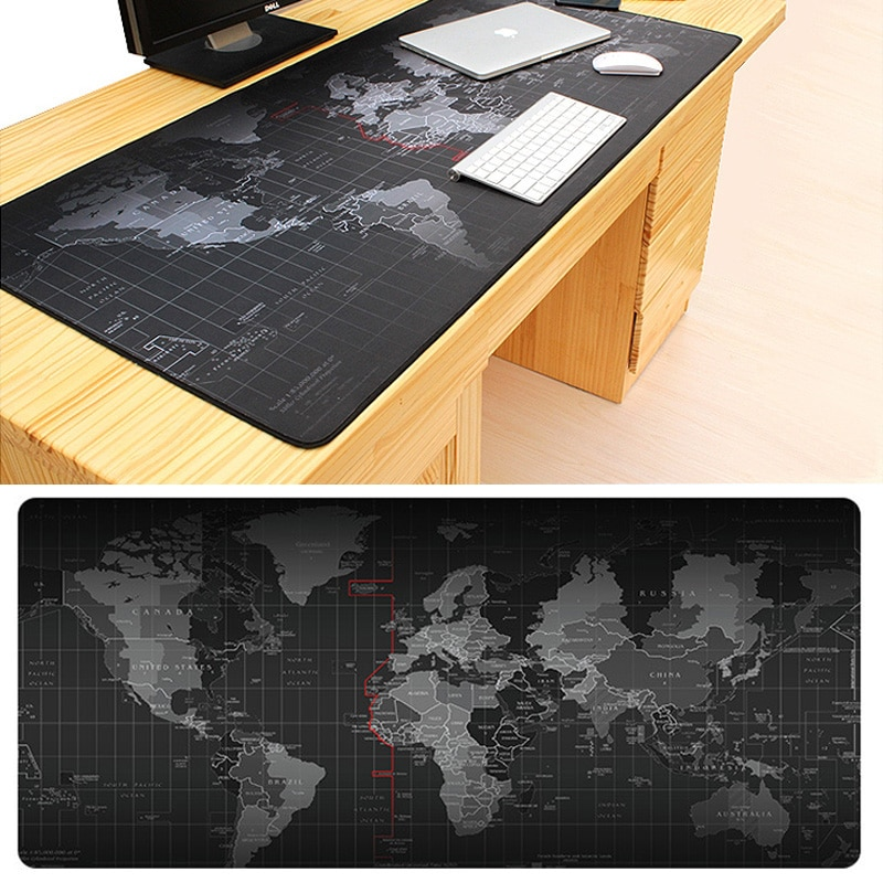 Extra Large Mouse Pad Old World Map Gaming Mousepad Anti-slip Natural Rubber Gaming Mouse Mat with Locking Edge