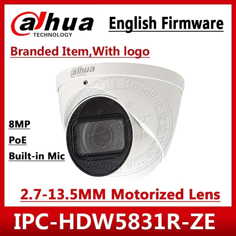 Dahua IPC-HDW5831R-ZE 4K 8MP POE 2,7 мм ~ 12 мм Моторизованный объектив IR50m IP67 камера безопасности SD Карта встроенный микрофон IPC-HDW5231R-ZE