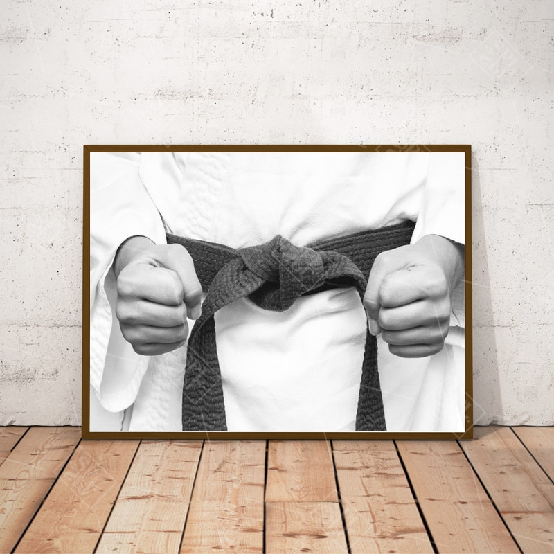 Unframed 1 peças crianças decoração do quarto pintura karate quimono lutador esporte punhos posters e cópias da arte da parede lona imagem sem moldura