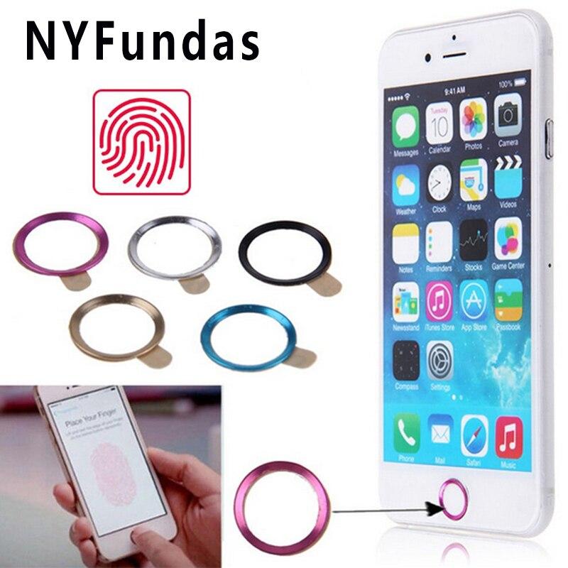 NYFundas, 100 unidades, pegatinas de botón de inicio con identificación táctil para Apple iPhone 7 6S 6 Plus SE 5S 5 5C iPad Pro, soporte de huella dactilar, pegatinas para teléfono