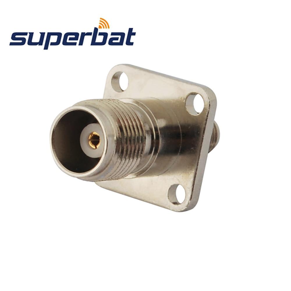 Superbat 5 шт. SMA-TNC RF адаптер SMA Гнездовой разъем к TNC Джек Панель Крепление прямой RF коаксиальный разъем