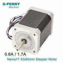Moteur pas cher pour gravure Laser 3D   Nema 17 moteur stepper 42x60mm en vente 0,6a/1,7a 0.75/0,73n. m 1,8deg 107Oz-in