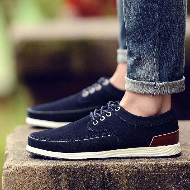 Surom marca homens sapatos casuais camurça de couro inverno quente pele sapato masculino confortável rendas até apartamentos moda masculina