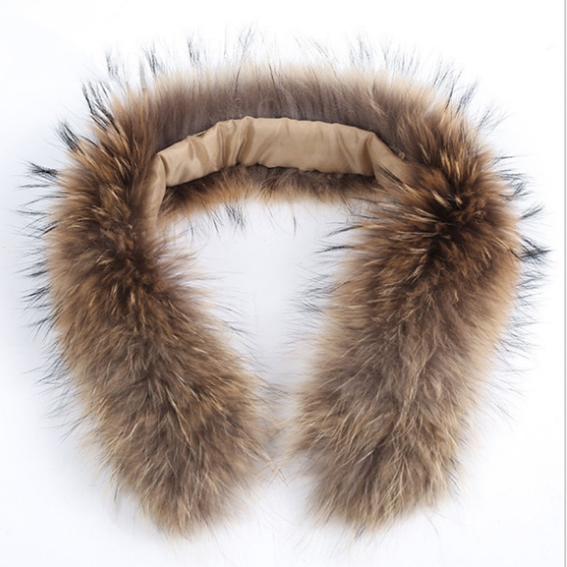Special offer winter natural jacket fur collar real raccoon fur women scarf coat woman neck cap long warm real fur scarf MSL#133