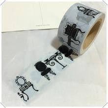 Beautirul high quality 30mm*10m decorative  washi  tape/balck and white beacutiful  dresser   masking japan washi tape