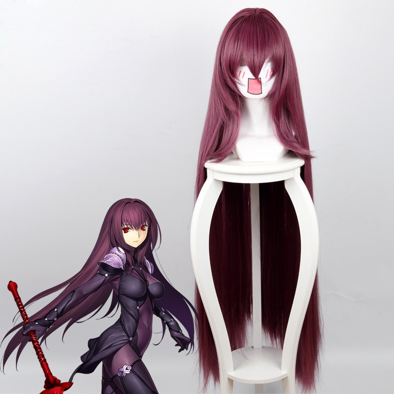 High quality Scathach Cosplay Wig Fate/Grand Order Costume Play Wigs Halloween Costumes Hair+ Wig Ca