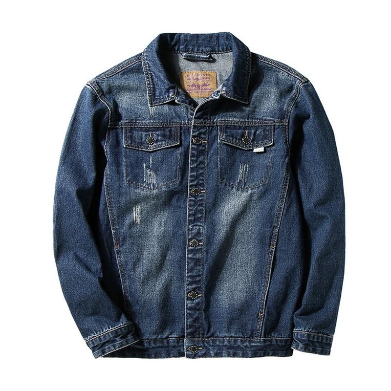 2020 New Spring And Autumn Denim Jean Casual Jacket Men Clothes Design Large ASIAN Size L-5XL 6XL 7XL