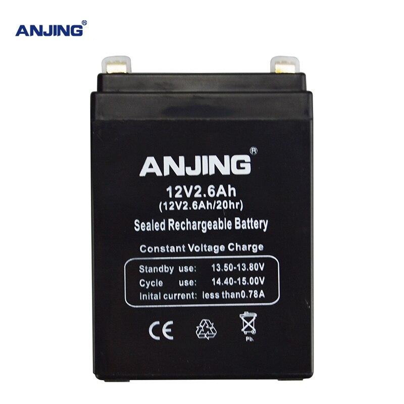 12V 2.6AH Battery 12V2.6AH for Backup Power LED emergency Light Children Toy Car Lead-acid Accumulator Replacement Maintenance