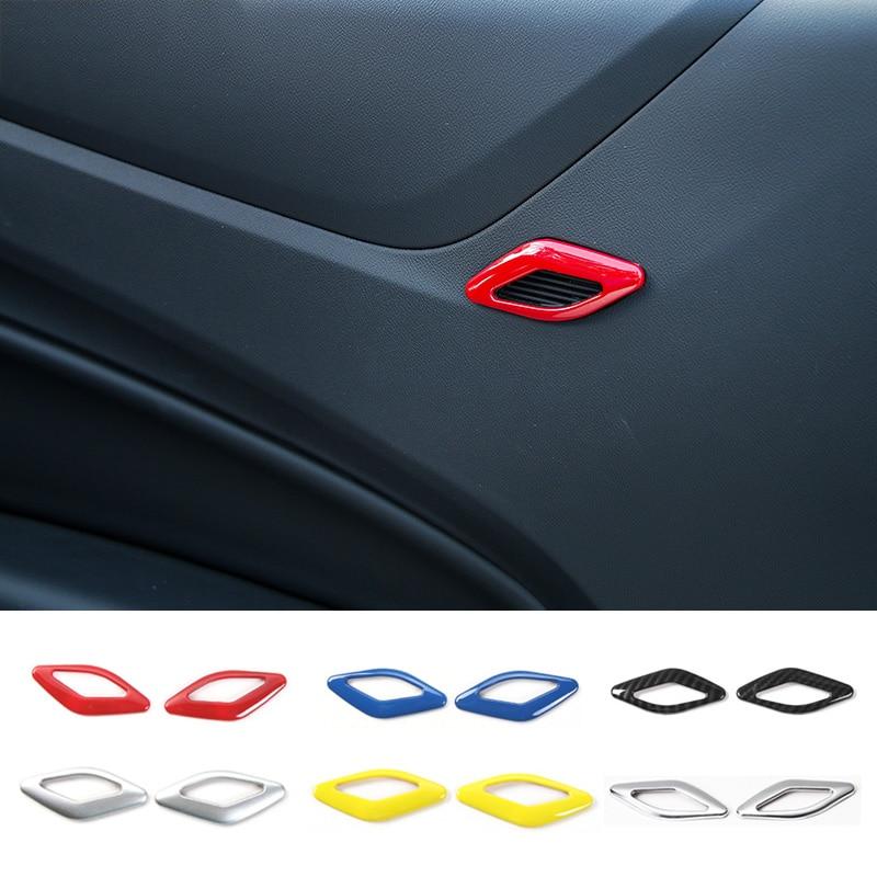 MOPAI ABS Автомобильная интерьерная дверь динамик украшение кольцо накладка наклейки для Chevrolet Camaro 2017 автомобильные аксессуары Стайлинг