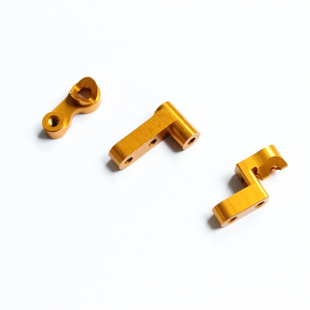 Himoto masadon 1/18 piezas de mejora E18 servo de aluminio eléctrico ahorro 1 Juego para RC E18XBL Spino Buggy 23619