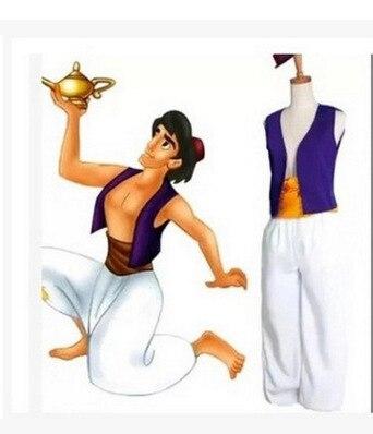 S-3XL adulto Aladdin lámpara Príncipe Aladino traje cosplay de anime para Halloween vestido Adam Príncipe trajes