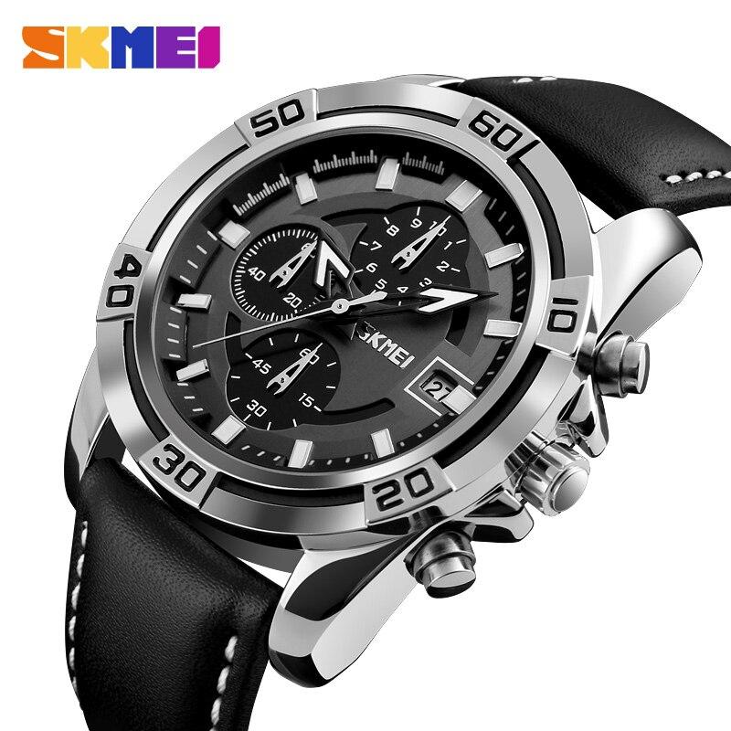 SKMEI модные часы Мужские кварцевые часы Топ бренд Роскошные мужские часы Бизнес Мужские наручные часы Hodinky Relogio Masculino 9156
