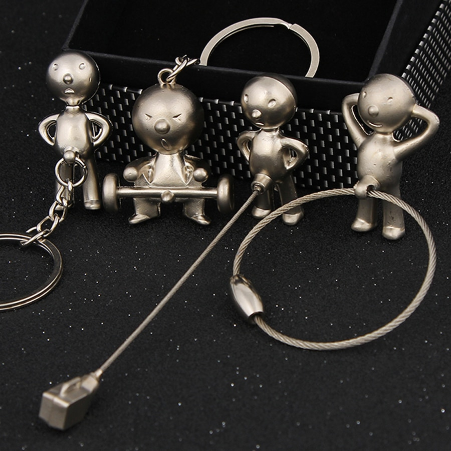 Креативная Новинка M R.P брелок для мальчика, автомобильный брелок, модная повседневная кукла, металлический брелок, брелок, держатель, сувен...