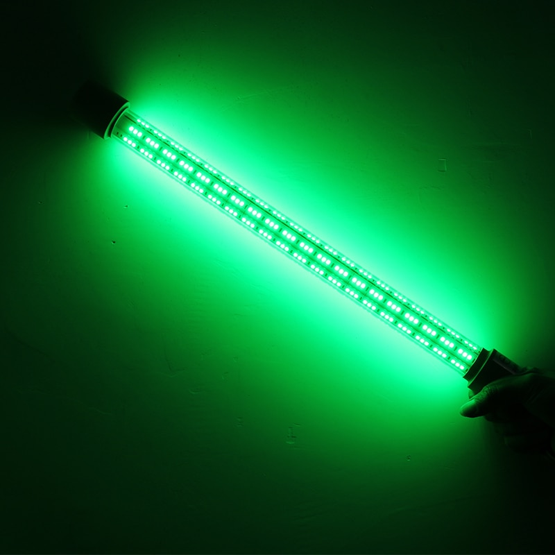 Fully Submersible Night Fishing Light Deep Drop Underwater Lure Bait Fish Finder for Krill Phytoplankton Squid  White Blue Gree enlarge