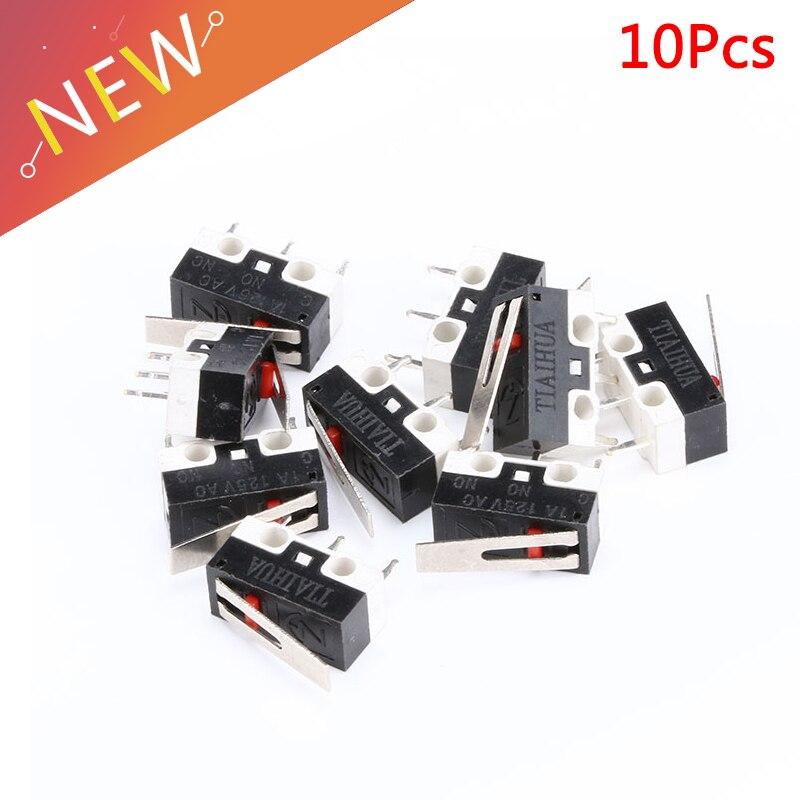 10 piezas AC 125 V 1A SPDT 1NO 1NC momentáneo mucho palanca con bisagra Micro interruptor