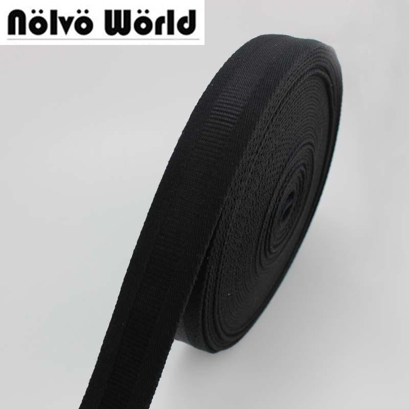 32mm 1-1/4 inch wide 1.9mm thick 100% COTTON canvas webbing tape Black shoulder bag handle sewing webbing straps