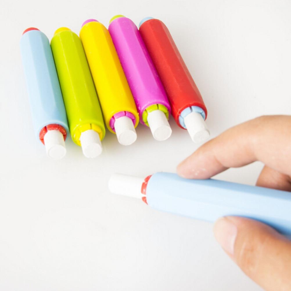 1 Uds. Nuevos soportes de tiza limpio mantenimiento de enseñanza para profesores niños educación en el hogar a bordo Color al azar al por mayor