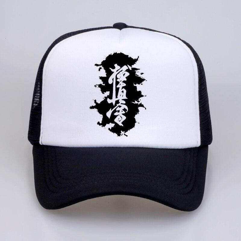 Бейсболки с буквенным принтом Hieroglyph Karate kyokussinkai, повседневная Кепка унисекс с регулируемой сеткой, Летняя Спортивная Кепка