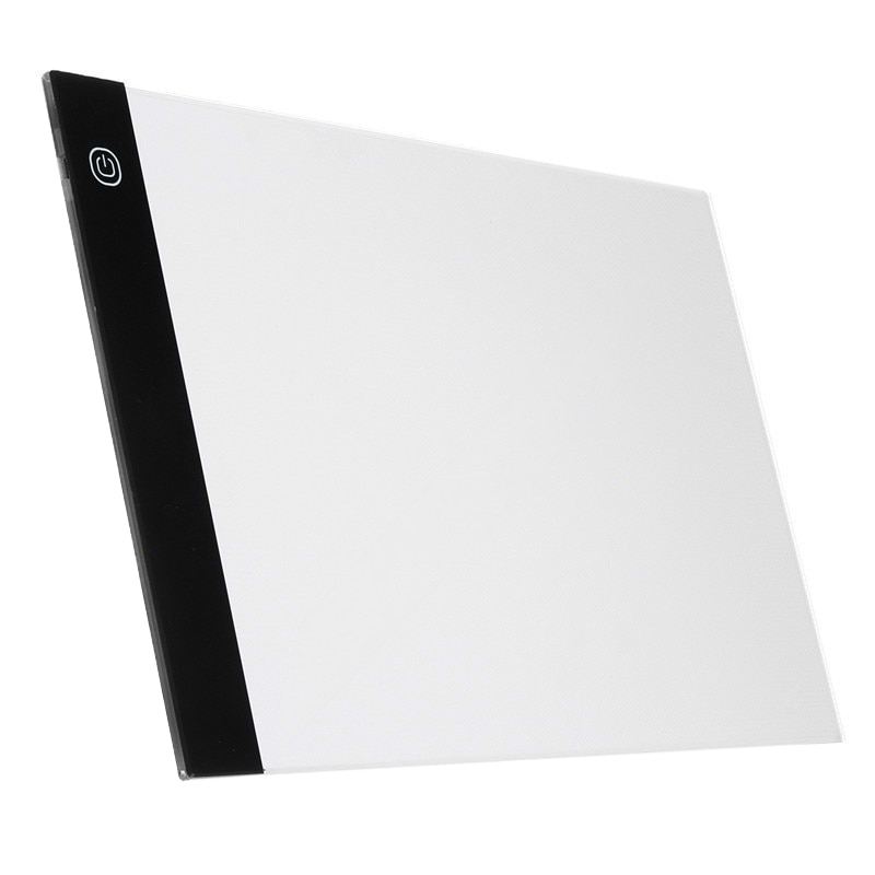 Tableta digital gráfica A4 Led artística delgada Plantilla de arte tablero de dibujo caja de luz trazando tableta Pad
