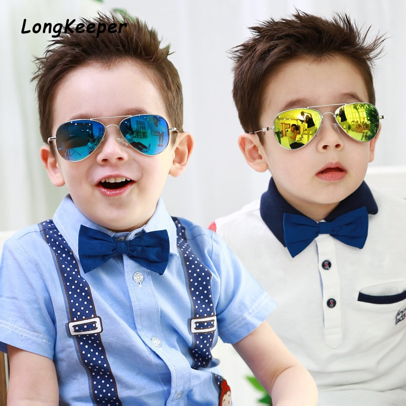 Brand Design Fashion Boys Sunglasses Kids Piolt Style Children Sun Glasses For Girls 100%UV Protecti