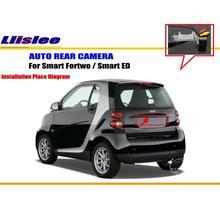 Liislee-caméra de stationnement de voiture   Caméra inversée pour Smart ED/caméra intelligente de rétroviseur/caméra lumineuse de la plaque dimmatriculation