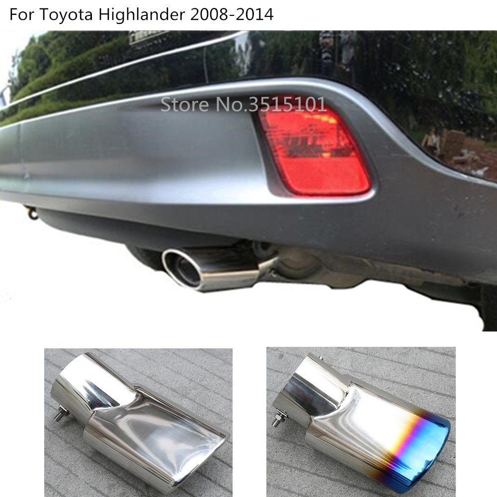 Salida de coche silenciador Punta de tubo de escape dedicado Punta de escape salida de escape para Toyota Highlander 2008 2009 2010 2011 2012 2013 2014