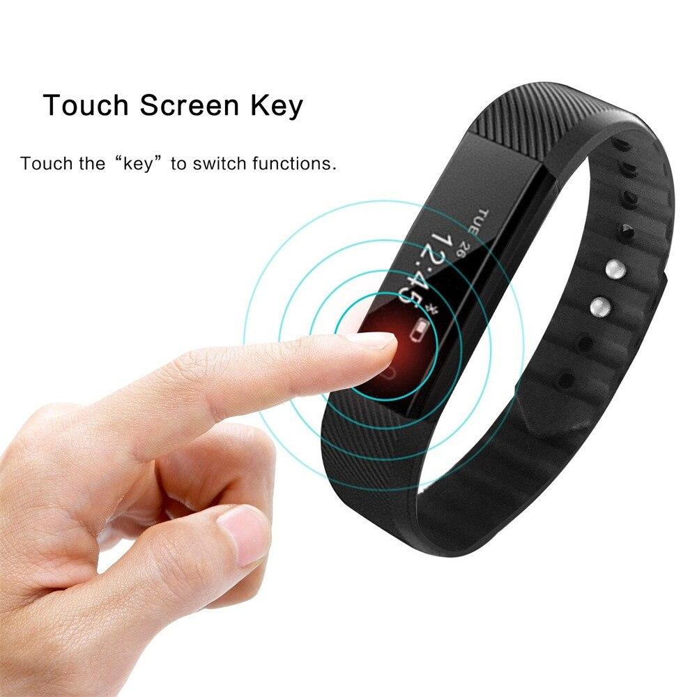 Correa de sarga BT4.0 reloj inteligente pulsera correa de muñeca podómetro seguidor de actividad/deporte F3 llamada impermeable adecuado para teléfono inteligente