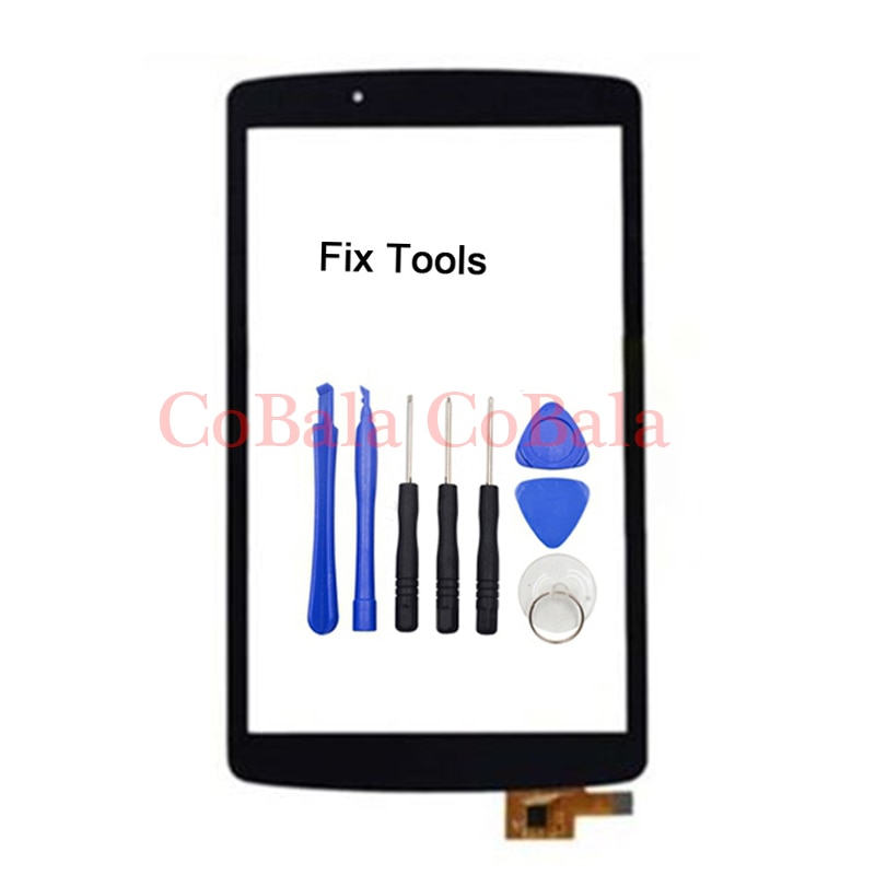 "1 Uds para LG G Pad F 8,0 ""V480 V490 Digitalizador de pantalla táctil LCD Panel exterior cristal frontal con sensor pieza de reparación"