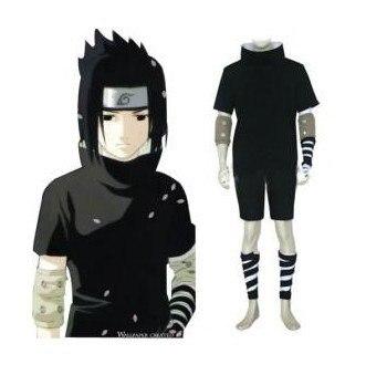Anime Naruto Cosplay - Individual Naruto Shippuden Sasuke Uchiha 2nd Men's Cosplay Costume - Freeshipping