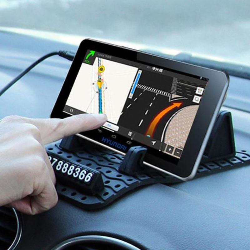 Auto tarjeta de aparcamiento temporal antideslizante coche tablero Sticky Pad antideslizante Mat GPS teléfono titular