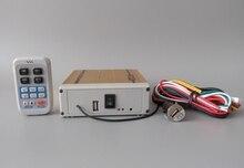 Amplificateur de secours dalarme de voiture haute puissance 200W AS820, 18 sons davertissement télécommande sans fil avec MP3 et microphone (sans haut-parleur)