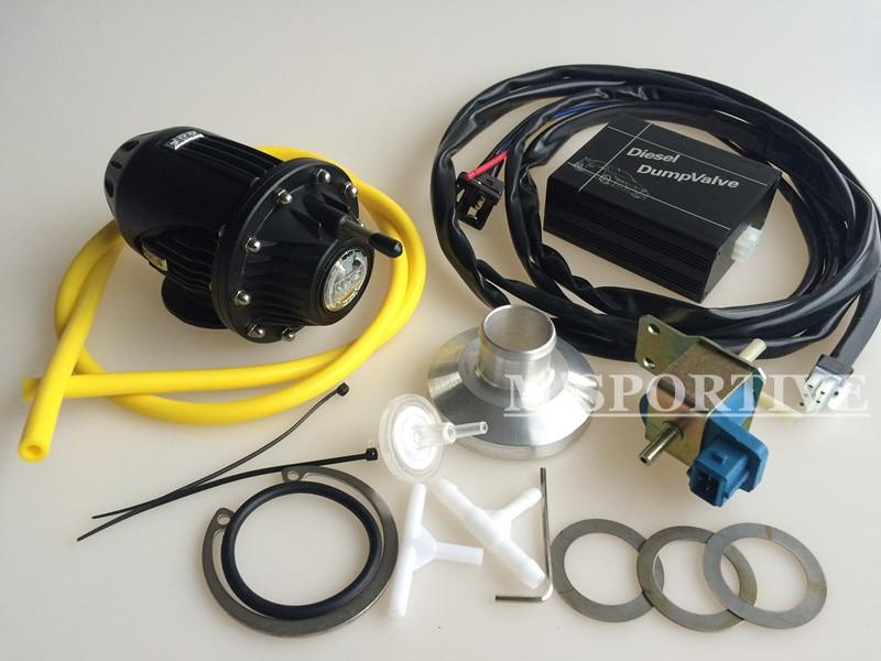 SQV4 SSQV4 elétrica Diesel Sopro Fora Da Válvula/Diesel Dump Válvula/Diesel BOV SQV KIT PRETO