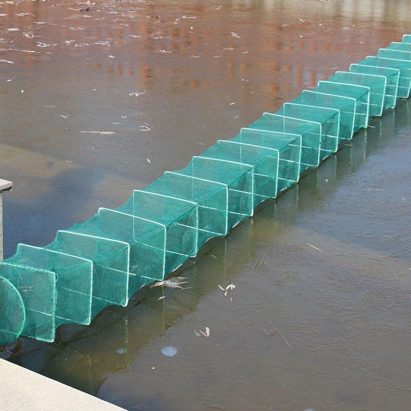 Red de pesca en jaula de camarones trampa plegable portátil para cangrejo langosta 19ing