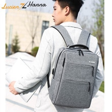 USB Rechargeable 15.6'' inch Laptop Backpack Multi-layer Space Men Waterproof Travel Backpack Bag School Bags for Teenage Girls