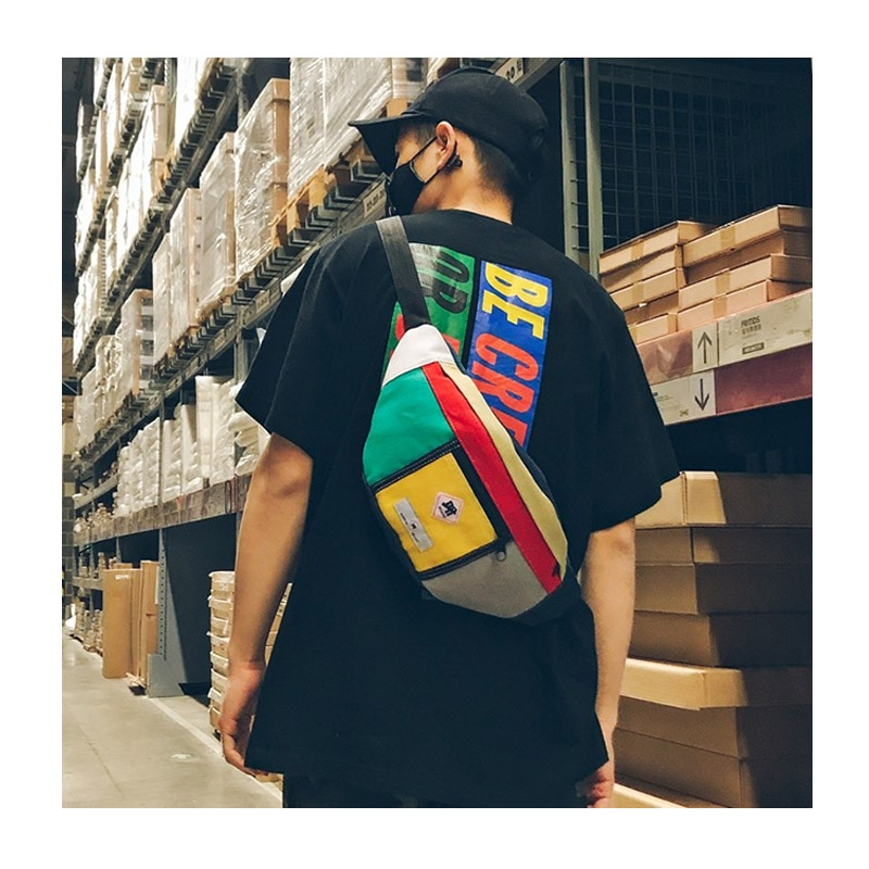 Canvas Waist Bag Men Fashion Unisex Waist Belt Bag Men Fanny Pack Casual Street Chest Bag Men Casual Waist Pouch B72