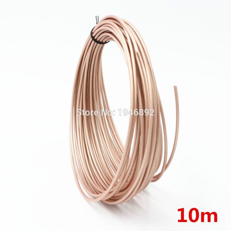 Braun 10M 32.8ft RG316cable Drähte RF koaxialkabel 50 Ohm für Stecker Geschirmt Kabel DIY
