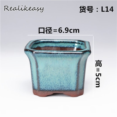 Purple Sand Flower Pot Simple Creative Stoneware Ceramic Flower Pots Square Style Home Office Balcony Decor Planter Pots ZM22