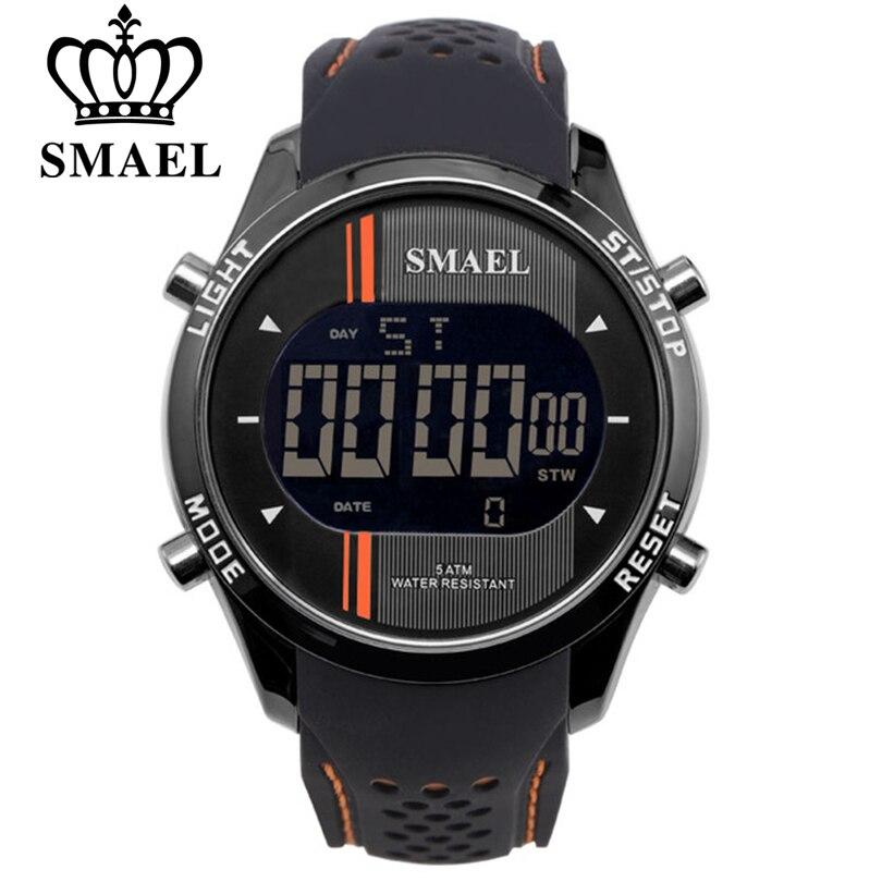 Smael led digital relógios homem esportes relógio masculino relógios inteligentes lazer moda data automática relógio de pulso eletrônico frete grátis