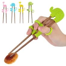Baguettes dessin animé enfants   Enfants, aide à la formation portables, vaisselle apprentissage formation baguettes en plastique, baguettes déveil pour bébés J25