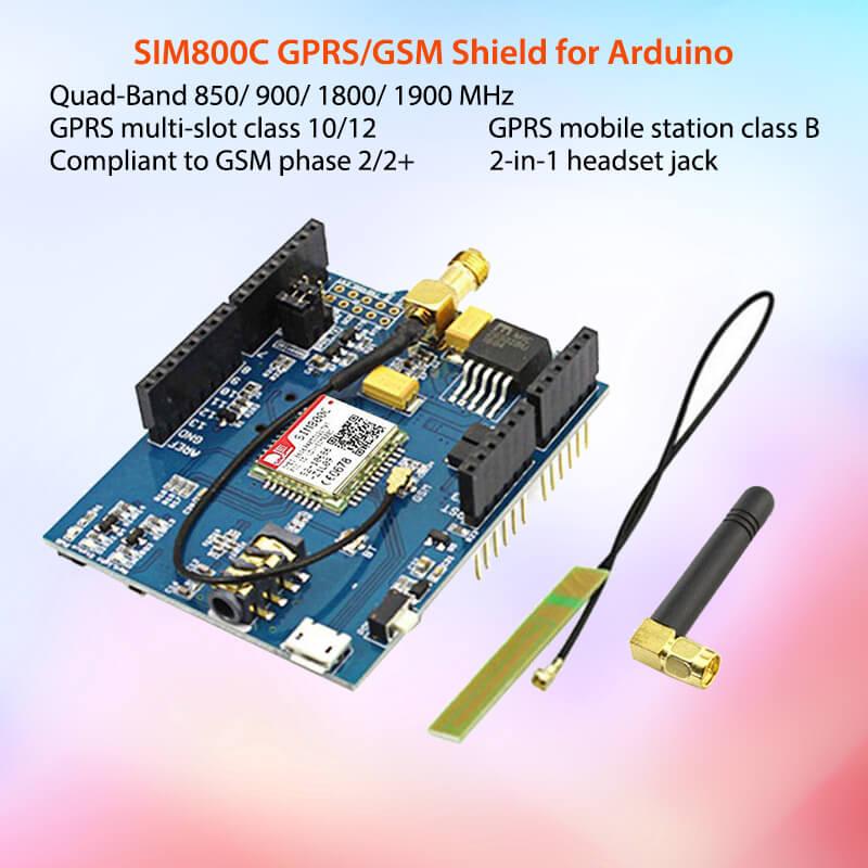 Elecrow GPRS GSM SIM800C щит для Arduino SIM800C модуль с