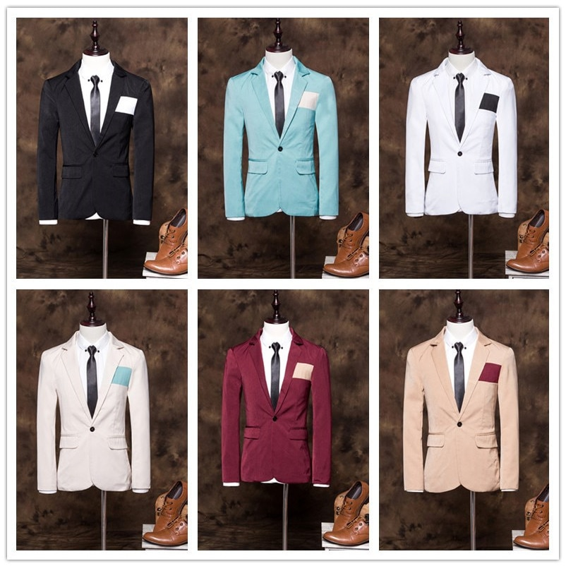 Novedad de verano primavera, suministro de fábrica, Dropshipping, estilo comercial, traje de ocio para hombres, chaqueta de moda para boda, capa superior de baile para jóvenes